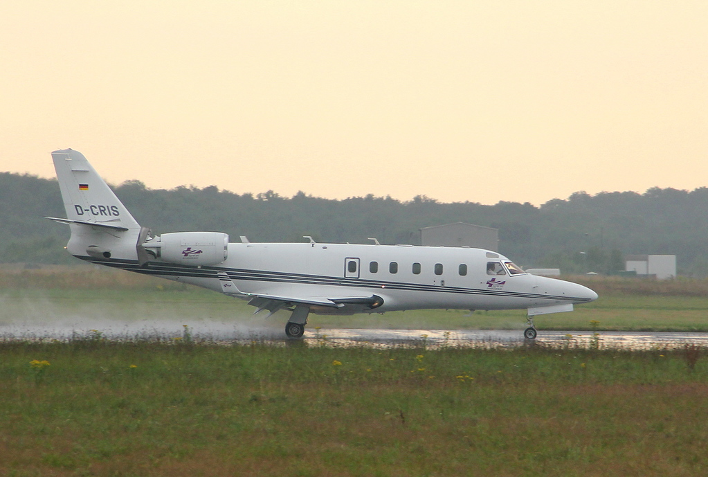 Tyrolean Air Ambulance IAI-1125 Gulfstream G100 D-CRIS.<br /> By Clive Featherstone.