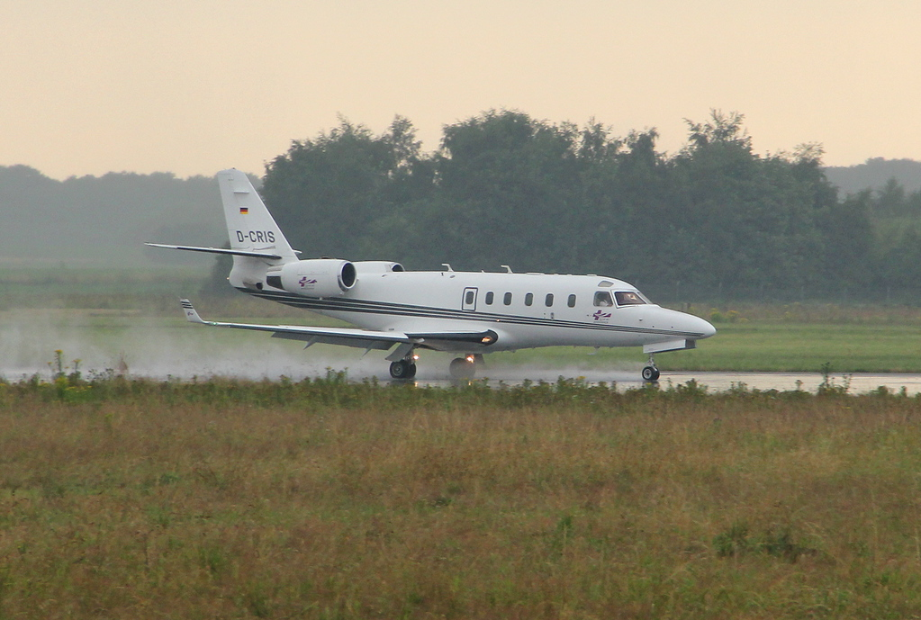 Tyrolean Air Ambulance IAI-1125 Gulfstream G100 D-CRIS arrived from Pardubice.<br /> By Clive Featherstone.