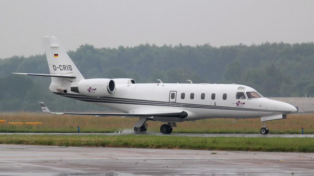 Tyrolean Air Ambulance IAI-1125 Gulfstream G100 D-CRIS.<br /> By Jim Calow.