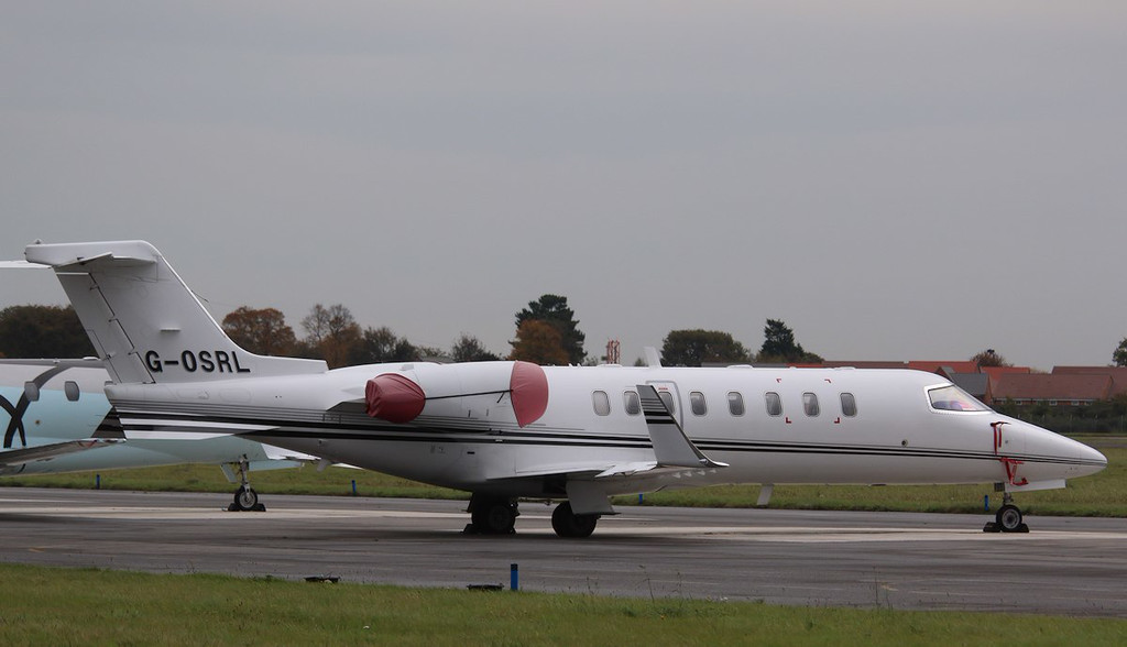 Hangar 8, Learjet 45, G-OSRL<br /> By Correne Calow.