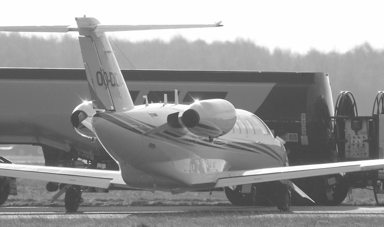 Sky Service Cessna 525A CitationJet CJ2 OO-DDA.<br /> By Correne Calow.
