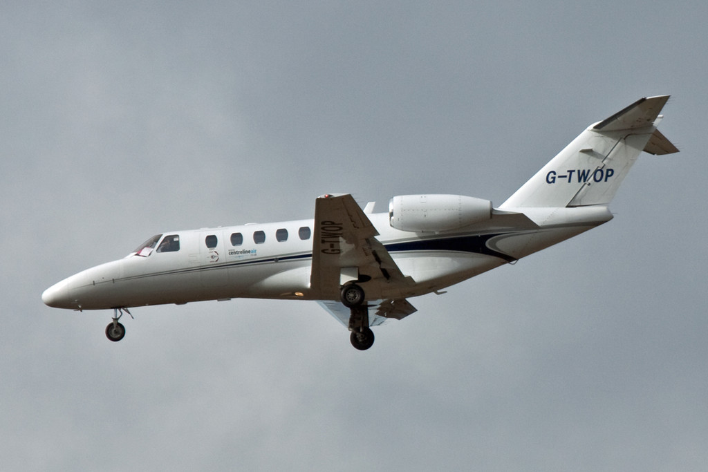 Centreline Air Cessna 525A CitationJet CJ2, G-TWOP.<br /> By David Bladen.
