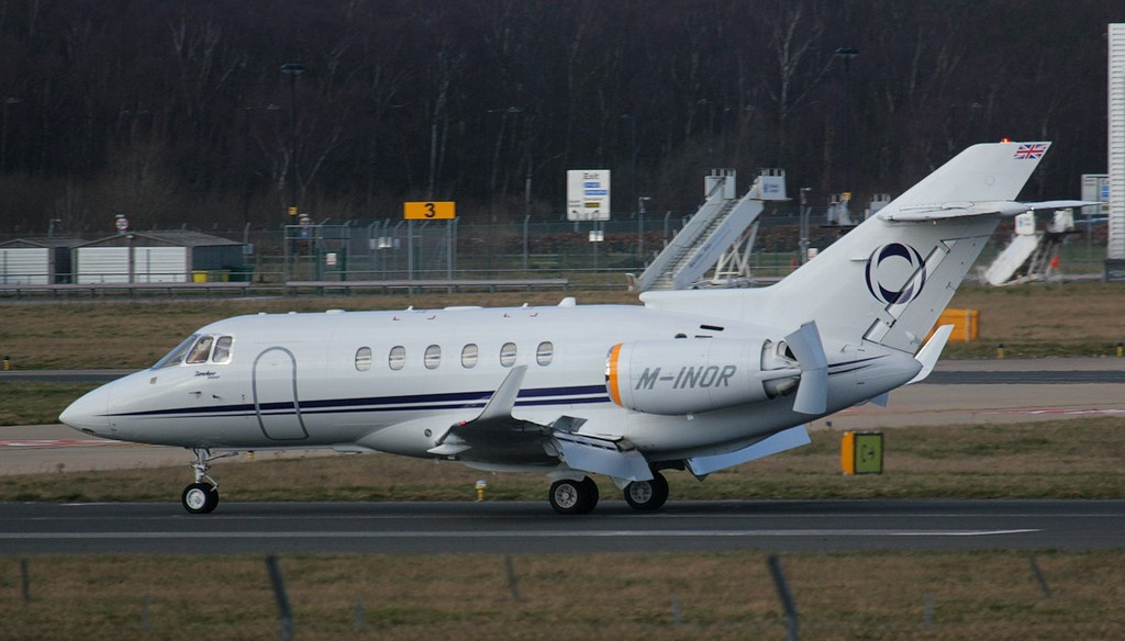 Ineos Aviation Hawker 900XP, M-INOR.<br /> By Jim Calow.