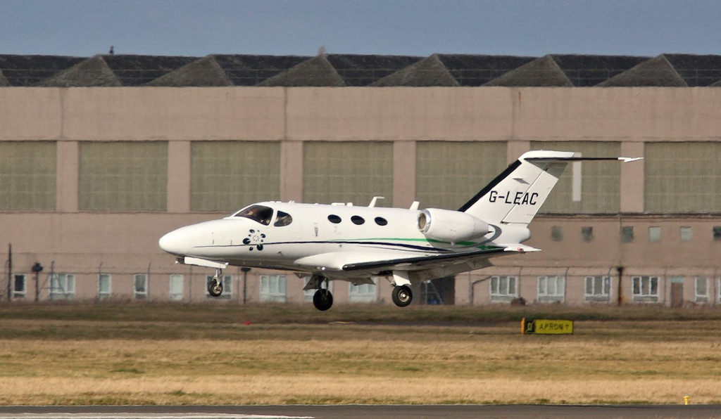 London Executive Aviation Cessna 510 Citation Mustang, G-LEAC.<br /> By Correne Calow.