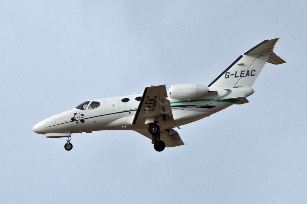 London Executive Aviation Cessna 510 Citation Mustang, G-LEAC.<br /> By David Bladen.
