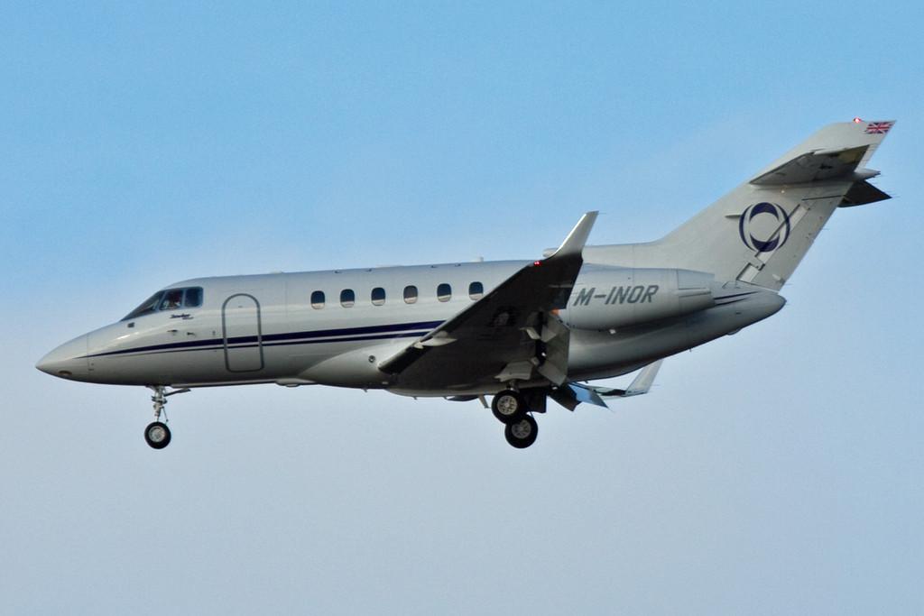 Ineos Aviation Hawker 900XP, M-INOR.<br /> By David Bladen.
