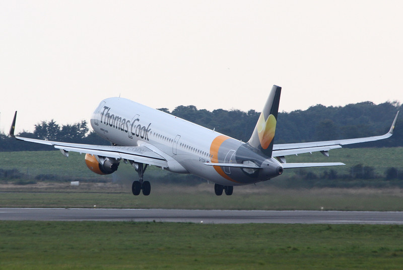 Thomas Cook A321, G-TCGD.<br /> By Clive Featherstone.