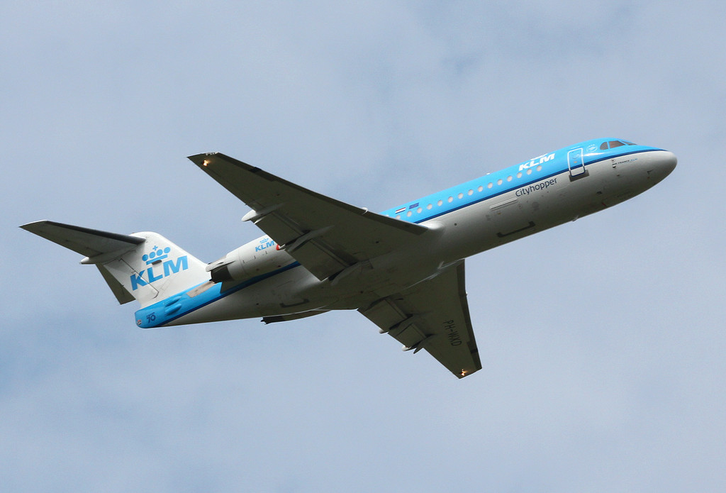 KLM Fokker 70 PH-WXD.<br /> By Clive Featherstone.