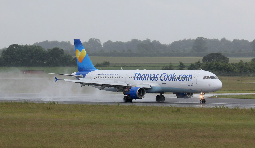 Thomas Cook A321 G-NIKO.<br /> By Jim Calow.