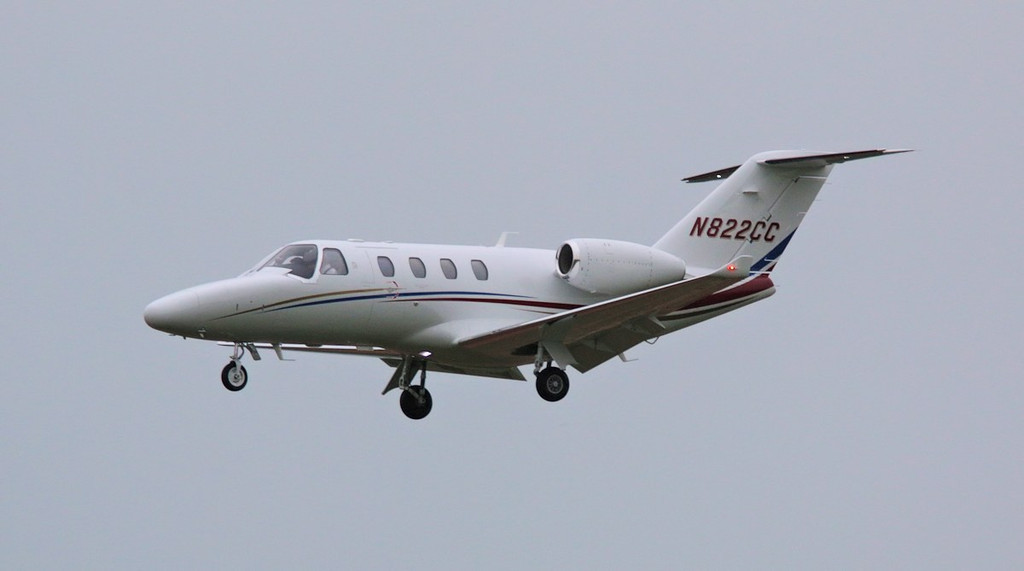 The first time we've seen Cessna's latest C525 variant at DSA. It is based on the out of production CJ1. This new model is the Cessna 525 CitationJet M2 which has a re-designed wing and more efficient engines than its predecessor.<br /> By Correne Calow.