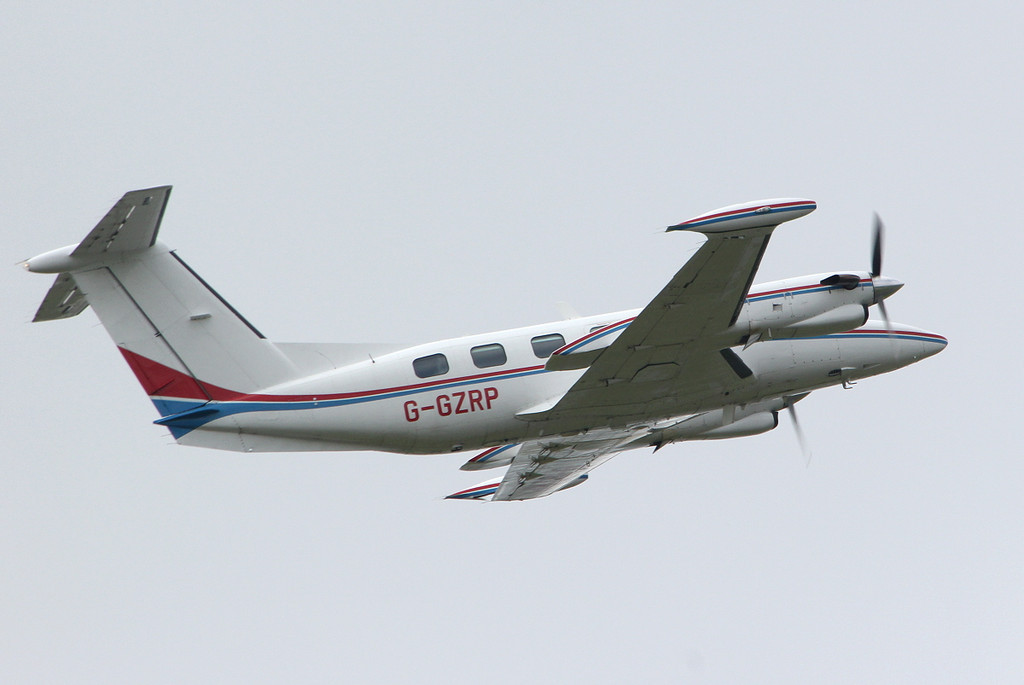 Air Medical Ltd Piper PA-42-720 Cheyenne IIIA, G-GZRP departed at 14:00.<br /> By Clive Featherstone.