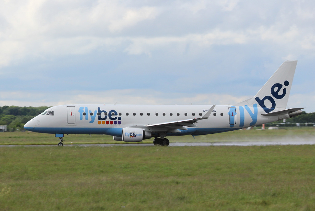 Flybe Embraer ERJ-175 G-FBJG.<br /> By Clive Featherstone.