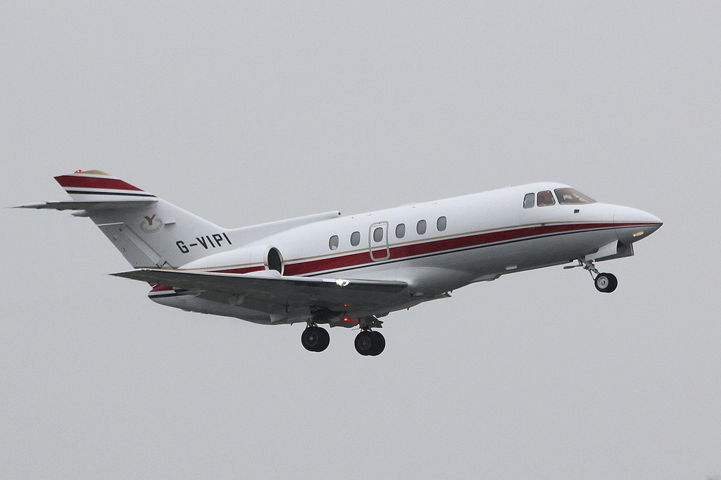 Executive Jet Charter, BAe 125-800 G-VIPI.<br /> By Clive Featherstone.