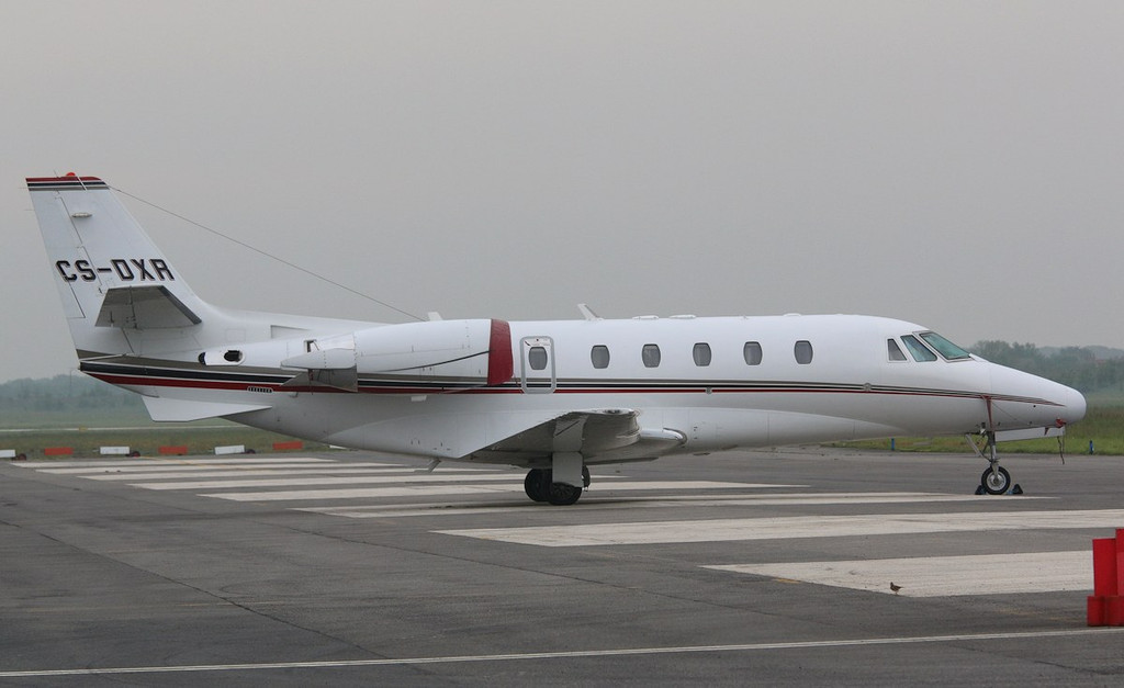 NetJets Cessna 560XL Citation XLS, CS-DXR.<br /> By Correne Calow.