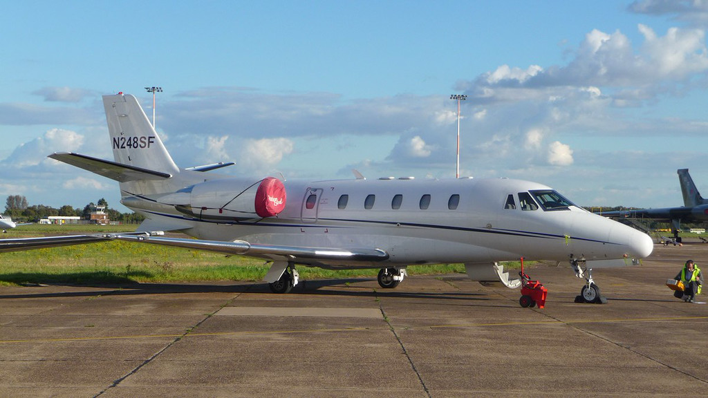 Cessna 560XL Citation Excel, N248SF (previously G-PEPE)<br /> By Correne Calow.