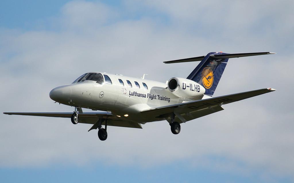 Lufthansa Flight Training Cessna 525 Citation CJ1+, D-ILHB<br /> By Jim Calow.