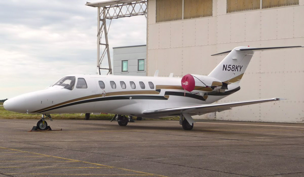 Registered N58KY on 13.6.14...............Cessna 525A CitationJet CJ2 (formerly G-CGSB)<br /> By Correne Calow.