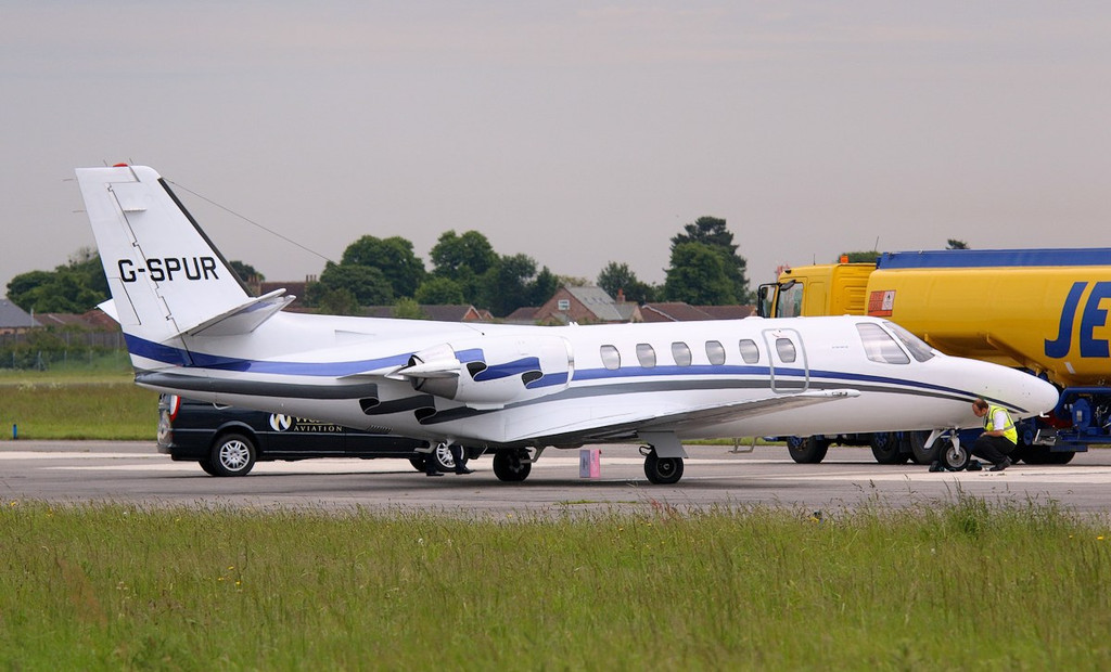 London Executive Aviation Cessna 550 Citation ll G-SPUR.<br /> By Correne Calow.
