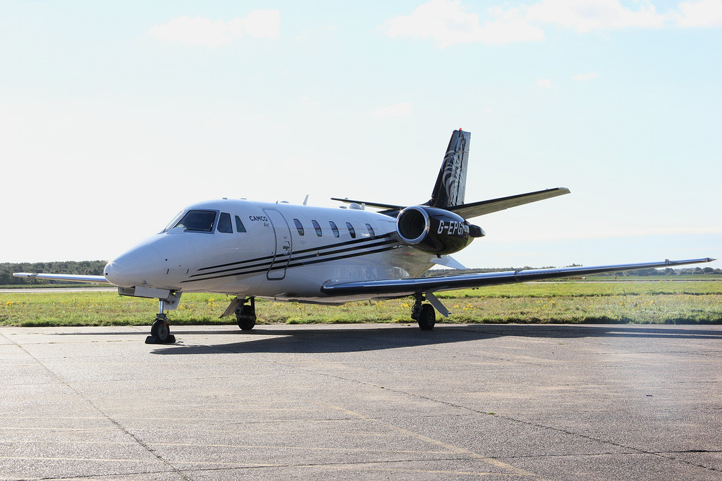 Camco Air, Cessna 560XL Citation XLS+, G-EPGI.<br /> By Clive Featherstone.
