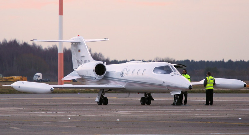 Quick Air Jet Charter, Learjet 35A, D-CJPG arrived late afternoon.<br /> By Correne Calow.