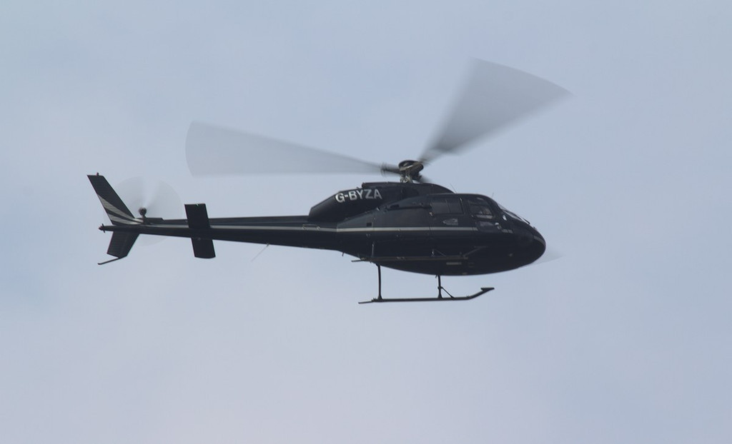 East Midlands Helicopters, AS355 Ecureuil 2 G-BYZA made a single ILS training approach.<br /> By Jim Calow.
