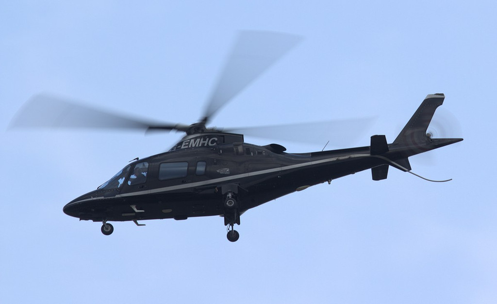 Another from East Midlands Helicopters making an ILS approach, this time Agusta A.109E Power, G-EMHC.<br /> By Jim Calow.