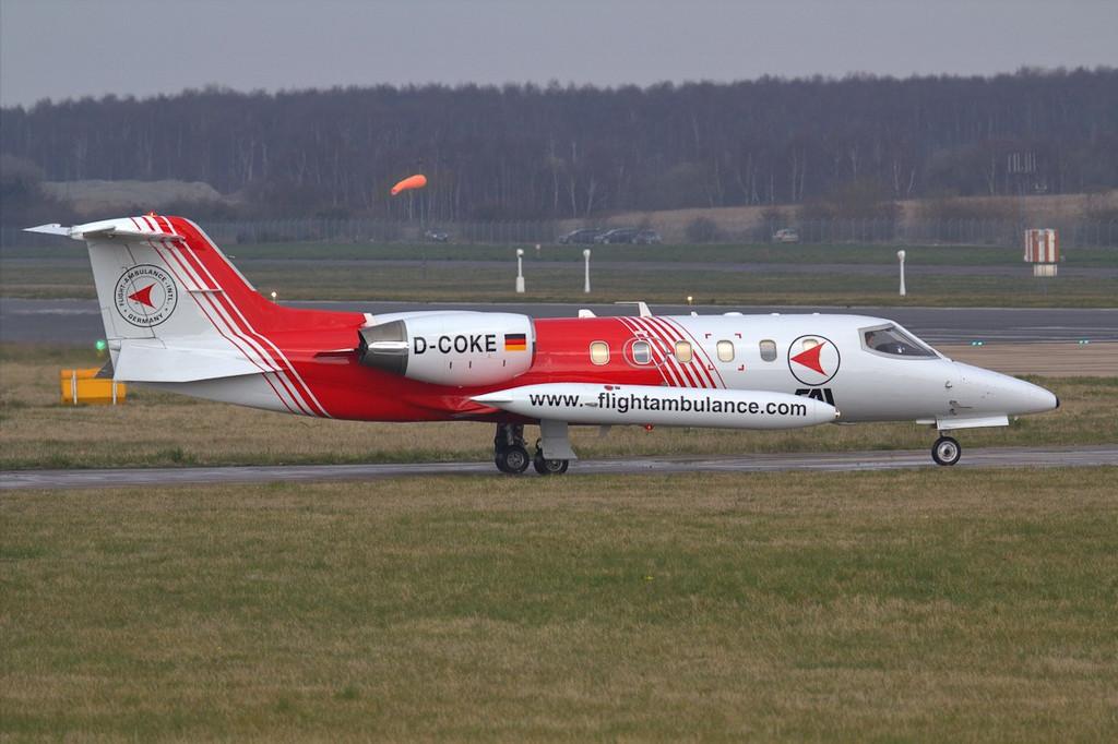 FAI Learjet 35A D-COKE.<br /> By Jim Calow.