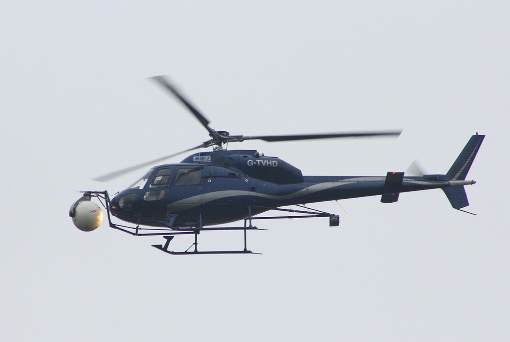 Arena Aviation, AS355F2 Ecureuil II, G-TVHD.<br /> By Clive Featherstone.