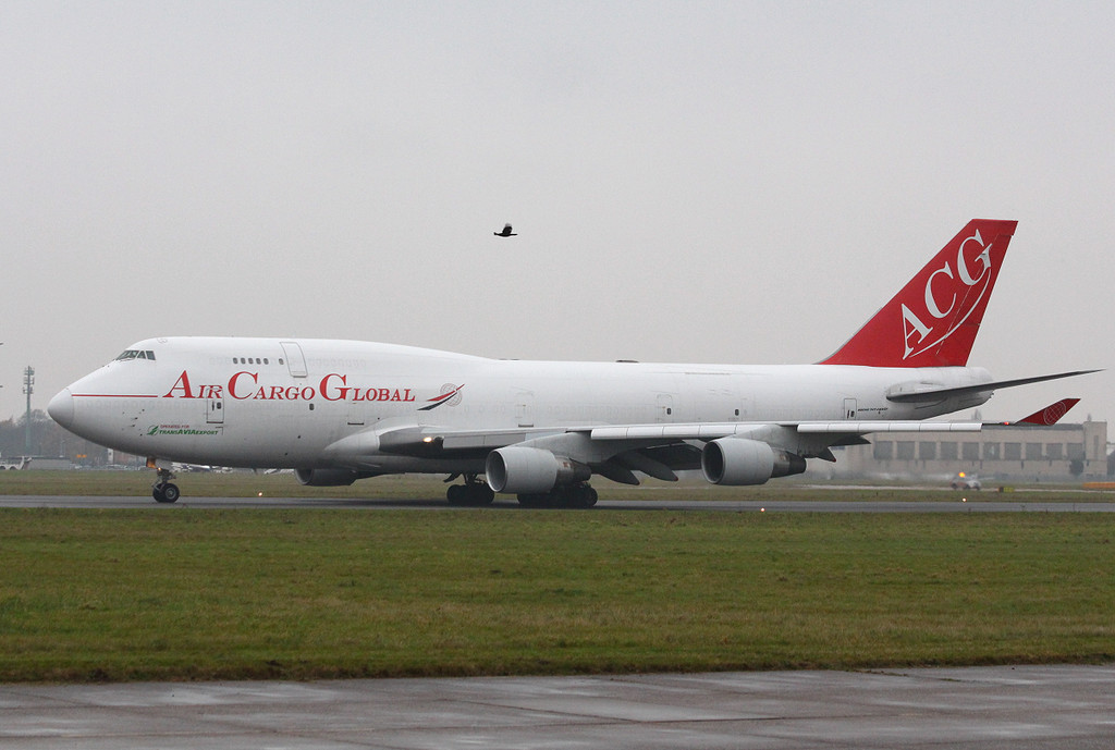 Air Cargo Global, 747-400SF, OM-ACG.<br /> By Clive Featherstone.