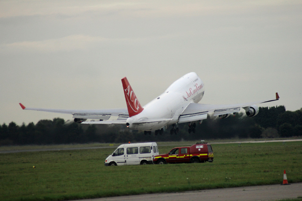 Air Cargo Global 747-400 OM-ACG.<br /> By Graham Vlacho.