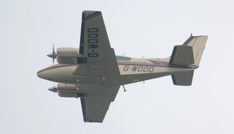 Beech 95-B55 Baron, G-WOOD<br /> By Jim Calow.