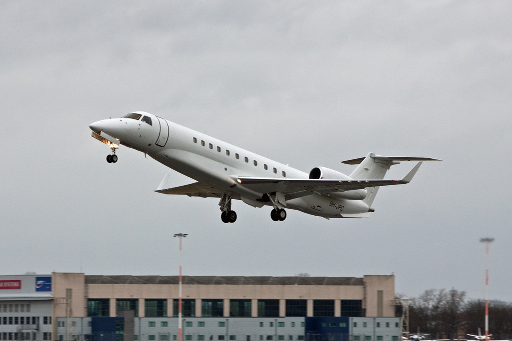 Air X Embraer 135BJ Legacy 600, 9H-JPC<br /> By David Bladen.