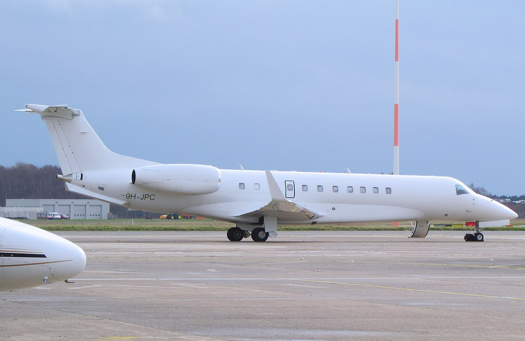 Air X Embraer 135BJ Legacy 600, 9H-JPC<br /> By Les York.