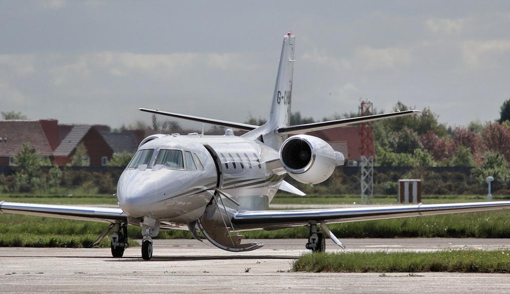 Air Charter Scotland's latest addition to its fleet, Cessna 560XL Citation XLS+ G-CHUI.<br /> By Correne Calow.