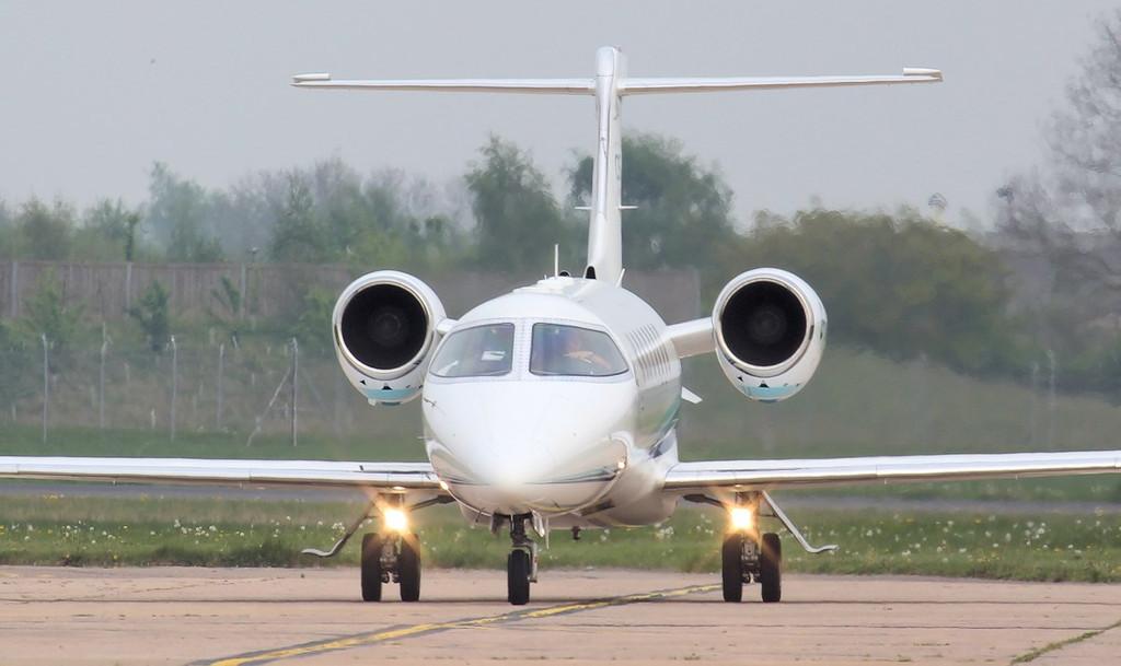 Cega Aviation Learjet 45XR, G-XJET.<br /> By Jim Calow.