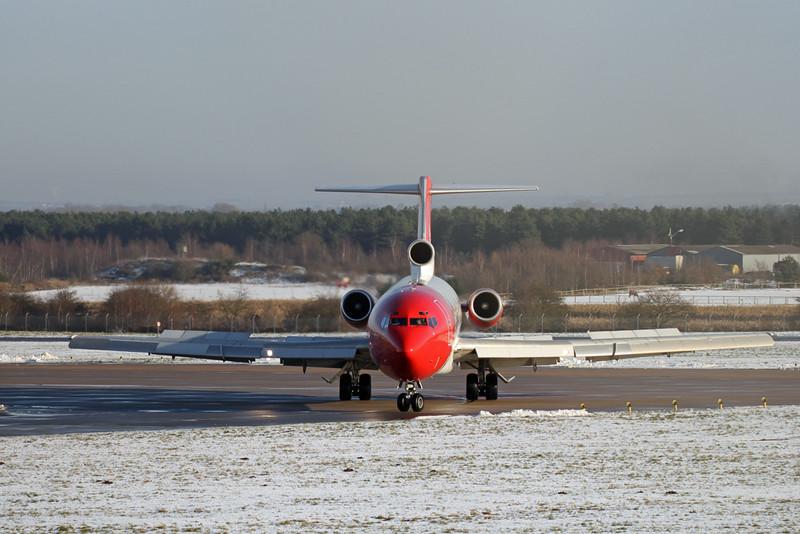 T2 Aviation, B722, G-OSRA<br /> By Graham Vlacho.