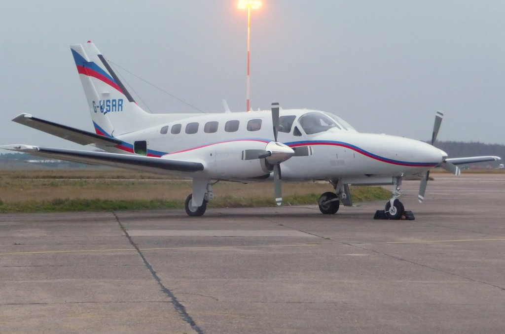 Cessna 441 Conquest, G-USAR.<br /> By Correne Calow.