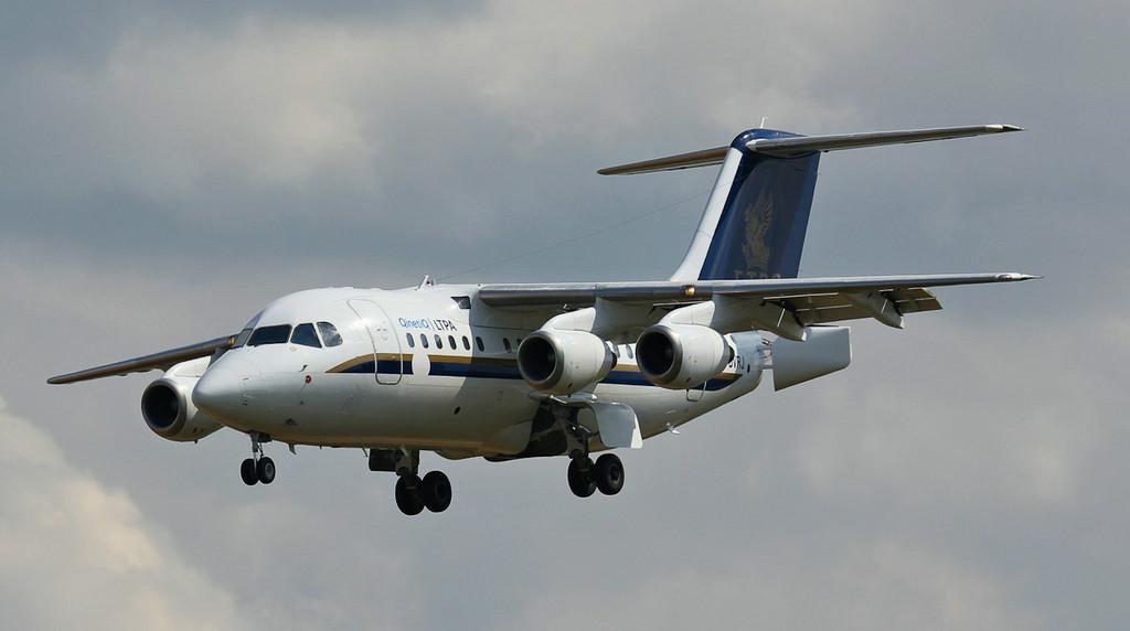 'Gauntlet 51' Qinetiq BAe 146 RJ70, G-BVRJ.<br /> By Jim Calow.