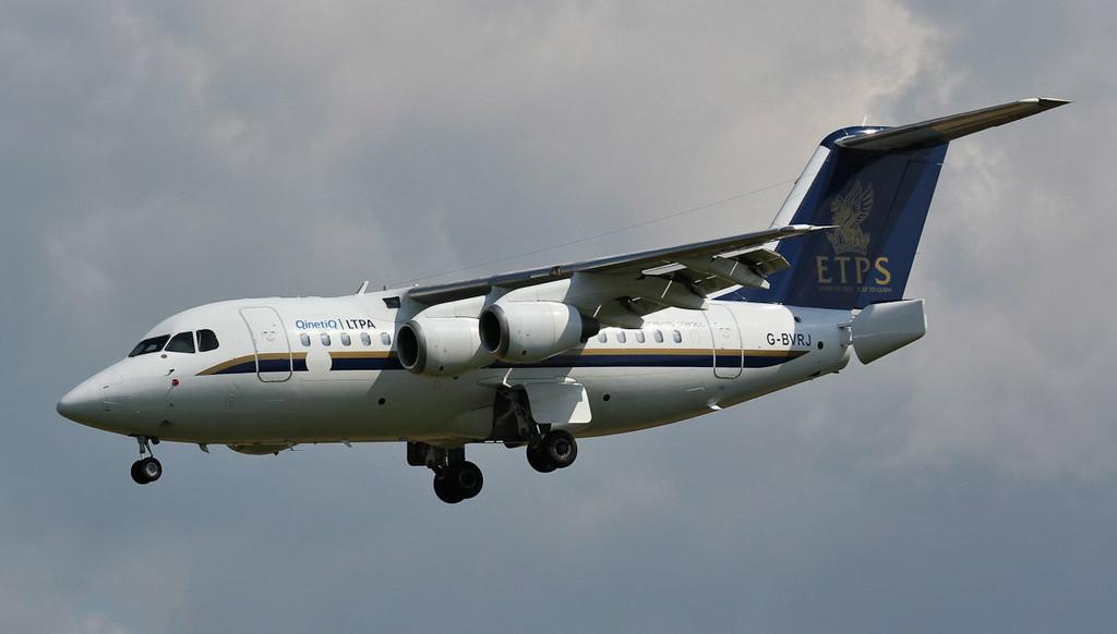 Qinetiq BAe 146 RJ70, G-BVRJ.<br /> By Jim Calow.