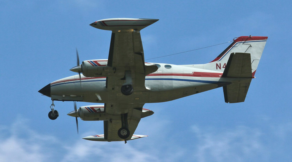 This afternoon saw Cessna 414 Chancellor II, N44NE in the circuit for training.<br /> By Jim Calow.