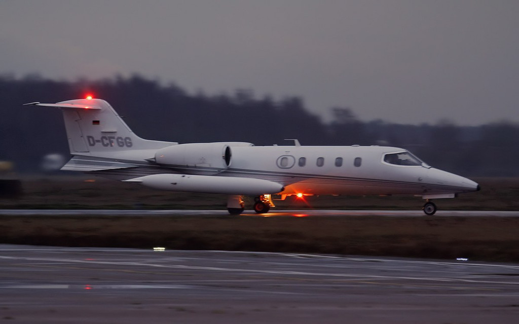 Quick Jet Air Charter, Learjet 36A, D-CFGG.<br /> By Jim Calow.