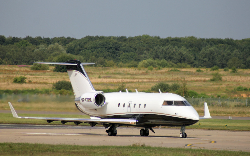 CL-600-2B16 Challenger VP-COK returned for a second round of training this afternoon.<br /> By Graham Vlacho.