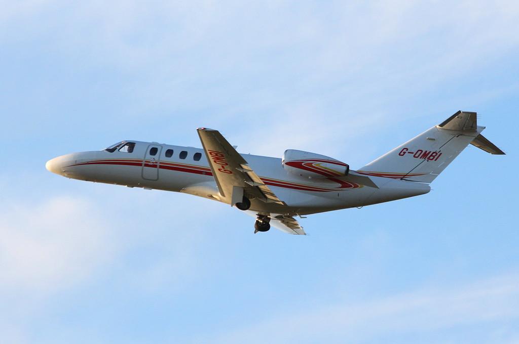 Ravenheat Manufacturing Ltd, Cessna 525B CitationJet CJ3, G-OMBI.<br /> By Clive Featherstone.
