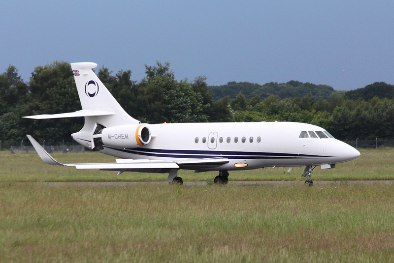 Ineos Aviation, Falcon 2000EX, M-CHEM<br /> By Clive Featherstone.