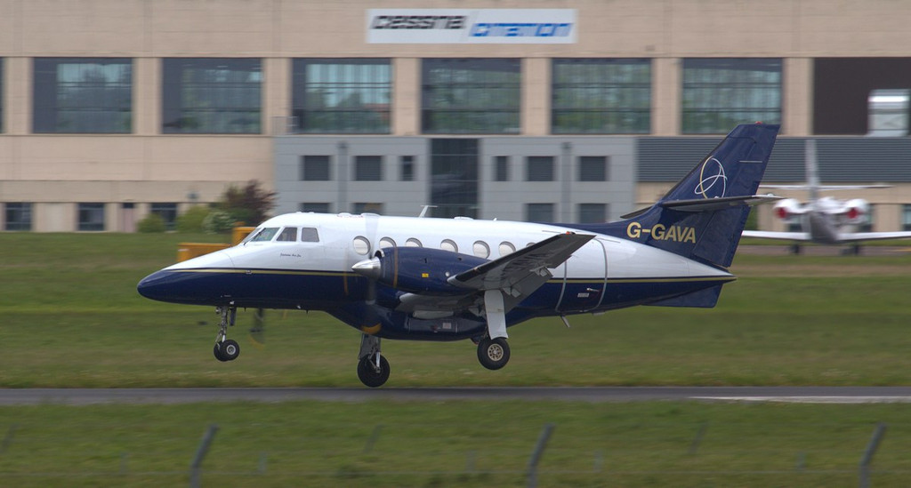 A strong crosswind helped make its arrival a little more interesting.<br /> By Jim Calow.