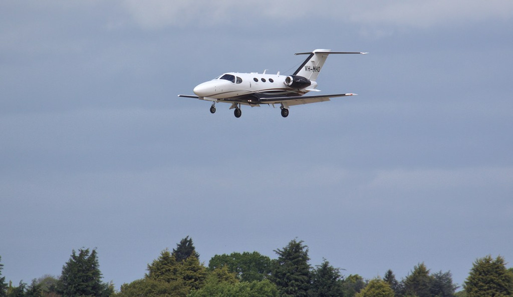 Cessna 510 Citation Mustang VH-MHO is on a delivery flight from USA to Australia, todays leg was from Reykjavik, Iceland.<br /> By Jim Calow.