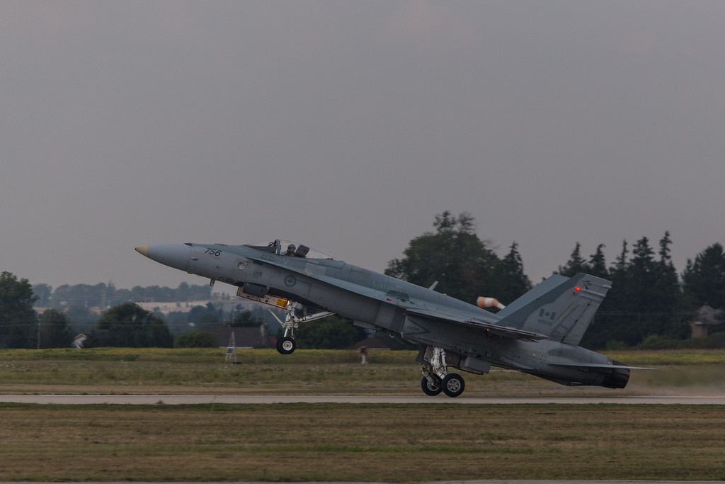 CF18 Hornet taking off