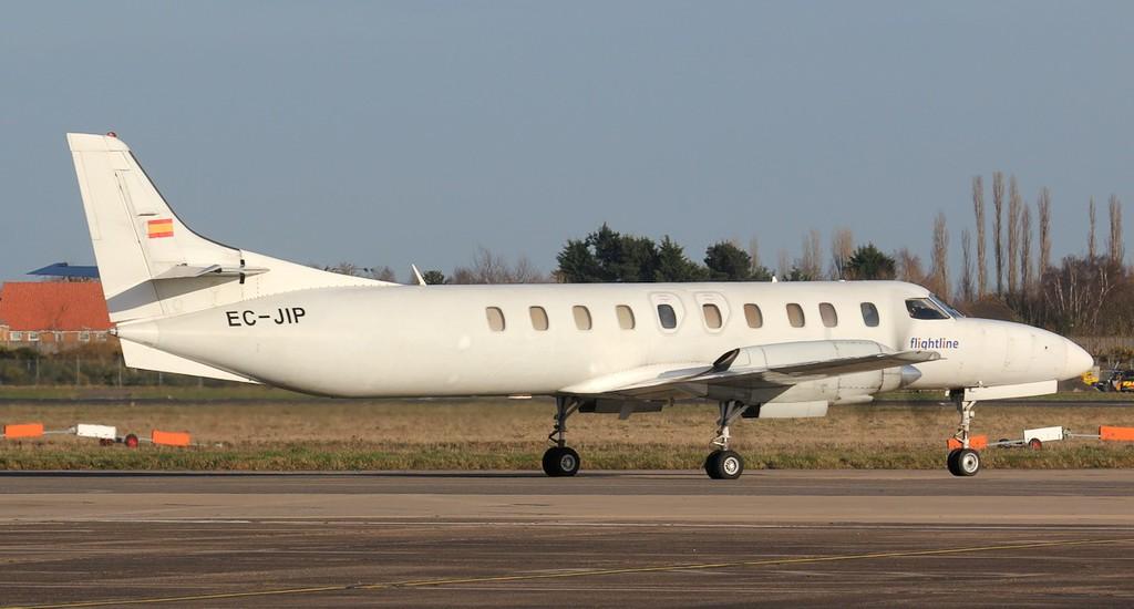 Flightline Swearingen SA226TC Metro ll EC-JIP departed at 16:30.<br /> By Jim Calow.