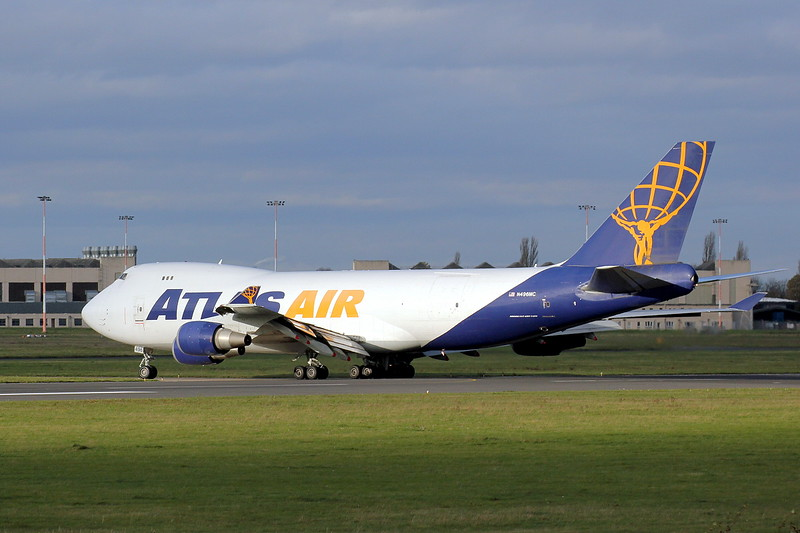 Atlas Air 747-400F N496MC.<br /> By Clive Featherstone.
