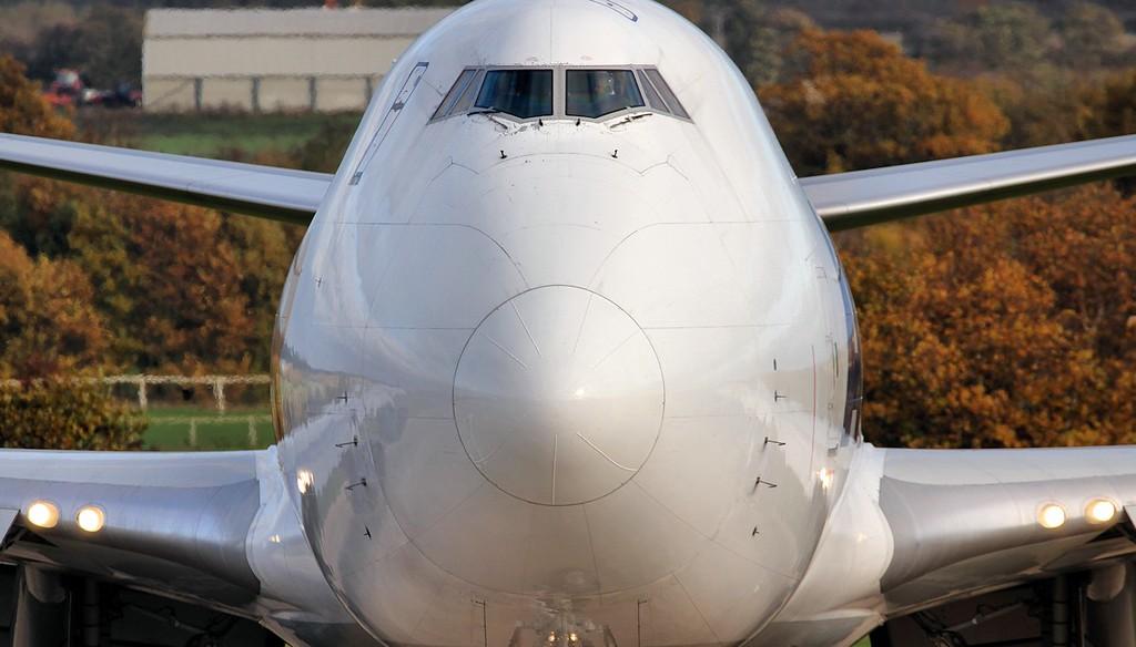 Atlas Air 747-400F N496MC.<br /> By Jim Calow.
